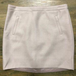 J Crew Beige Wool Work  Skirt Zipper 2 Pockets 8